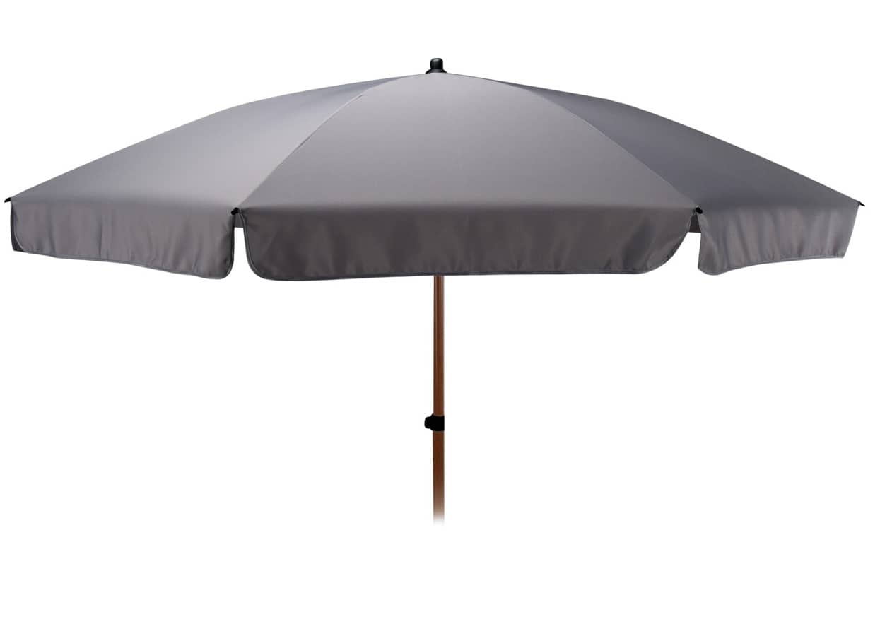 4Goodz Parasol 220 cm met Schuifmechanisme en Houtlook buis - Grijs