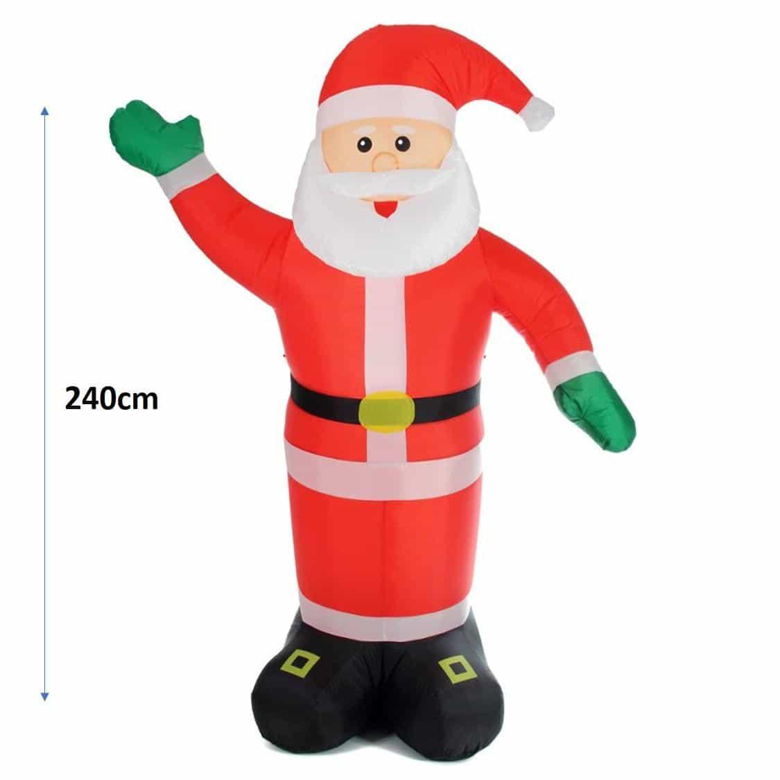 4Goodz opblaasbare kerstman 240cm – LED verlicht – binnen en buiten