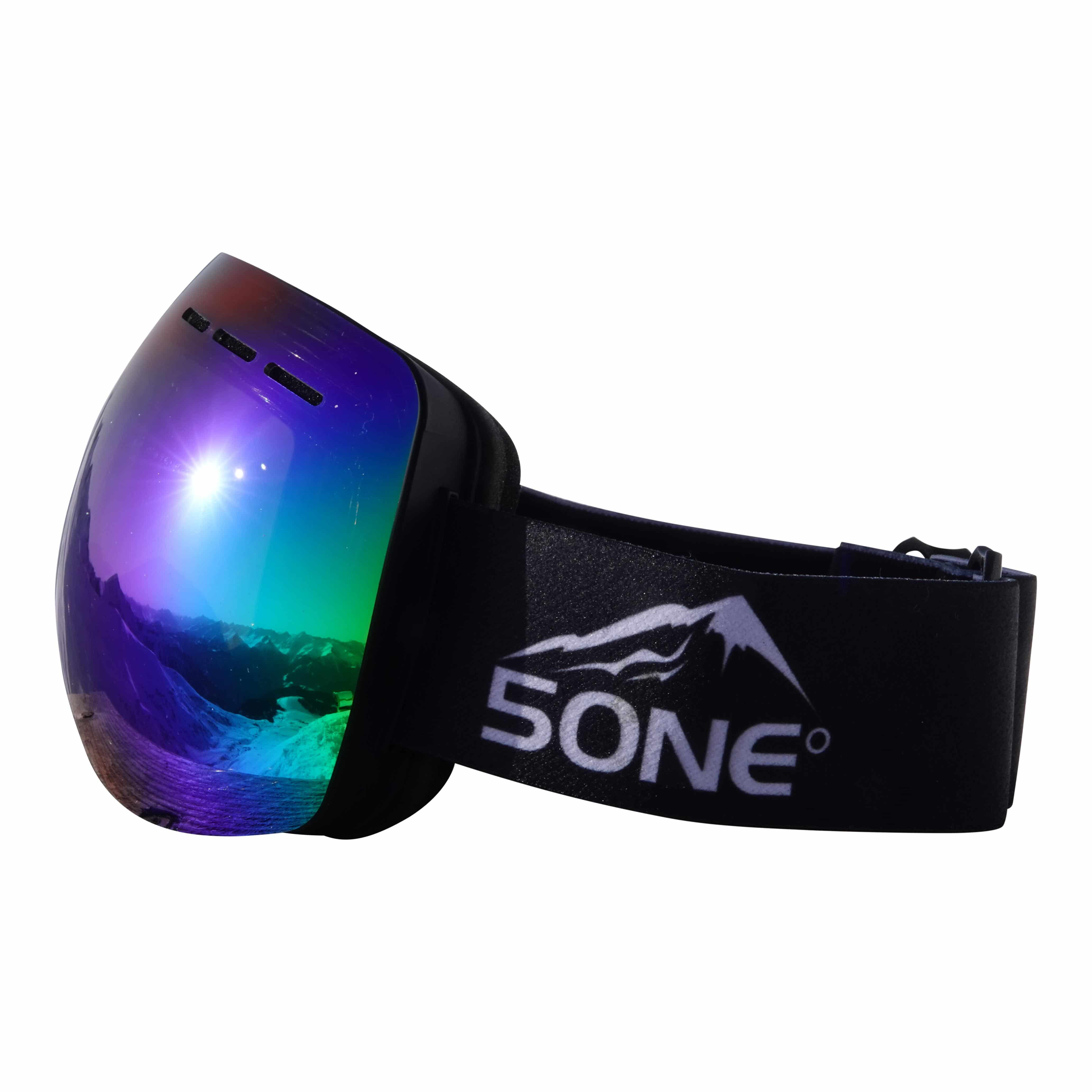 5one® Alpine 1 Green Oil goggle / skibril - anticondens - UV protected