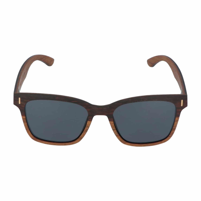 5one® Slim Line Ebony 2-tone - Ebben hout Wayfarer zonnebril - grijs