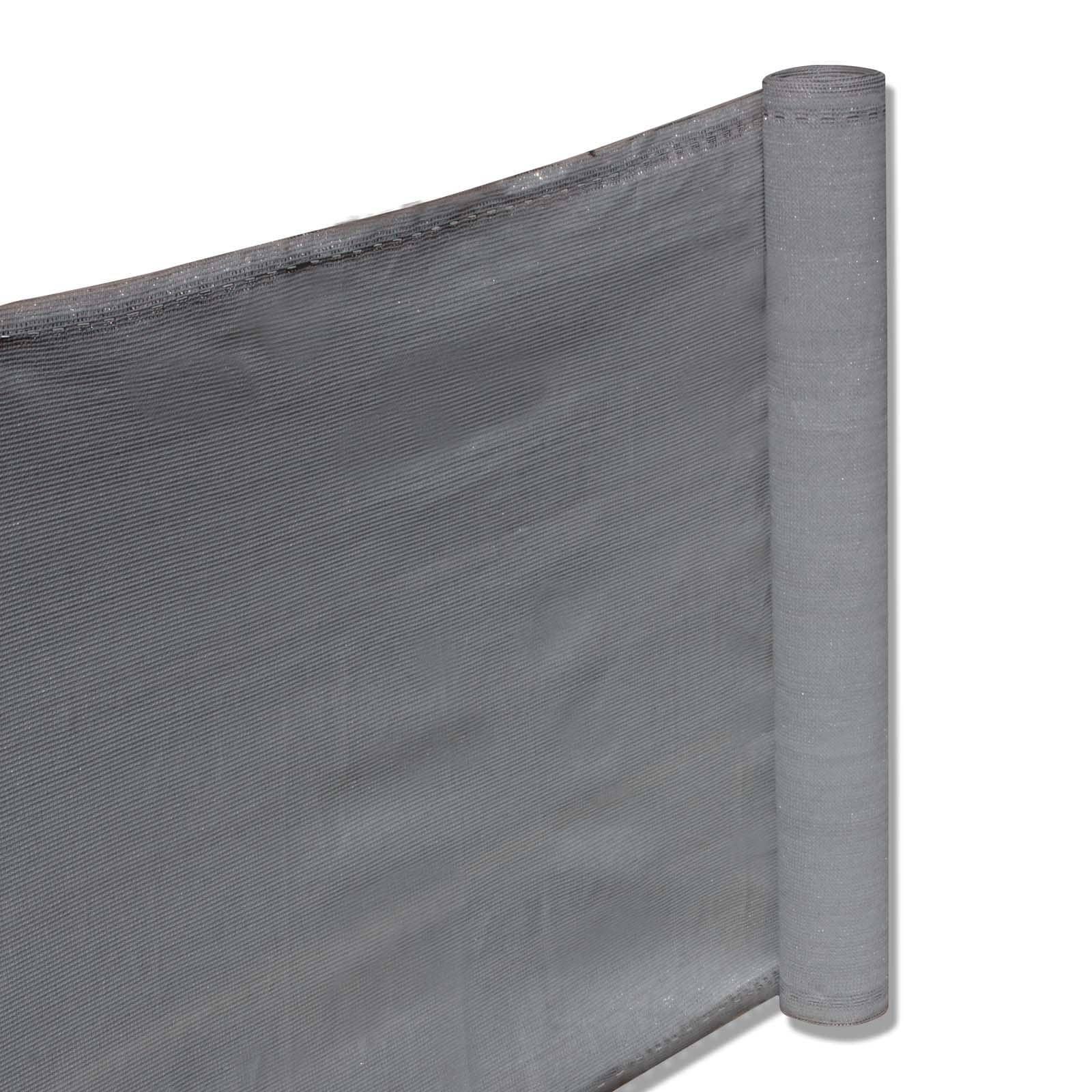 Hanse® Duurzaam Balkonscherm - Kleur Grijs - Balkondoek - 500x90cm