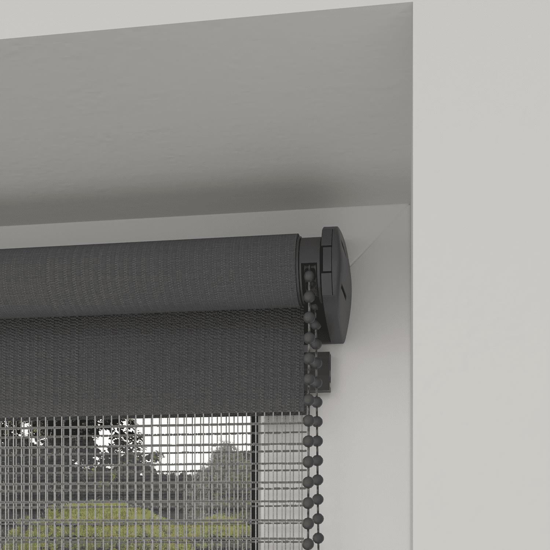 4Goodz Duo Rolgordijn Easy Lichtdoorlatend 90x250 cm - Donkergrijs