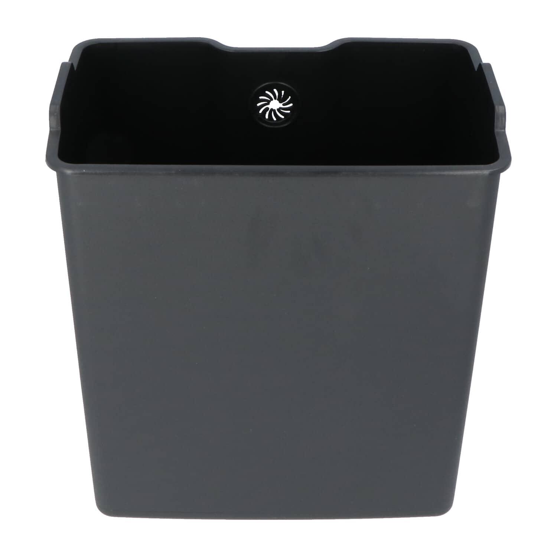 4cookz® Utah pedaal prullenbak 20L mat RVS - soft-close