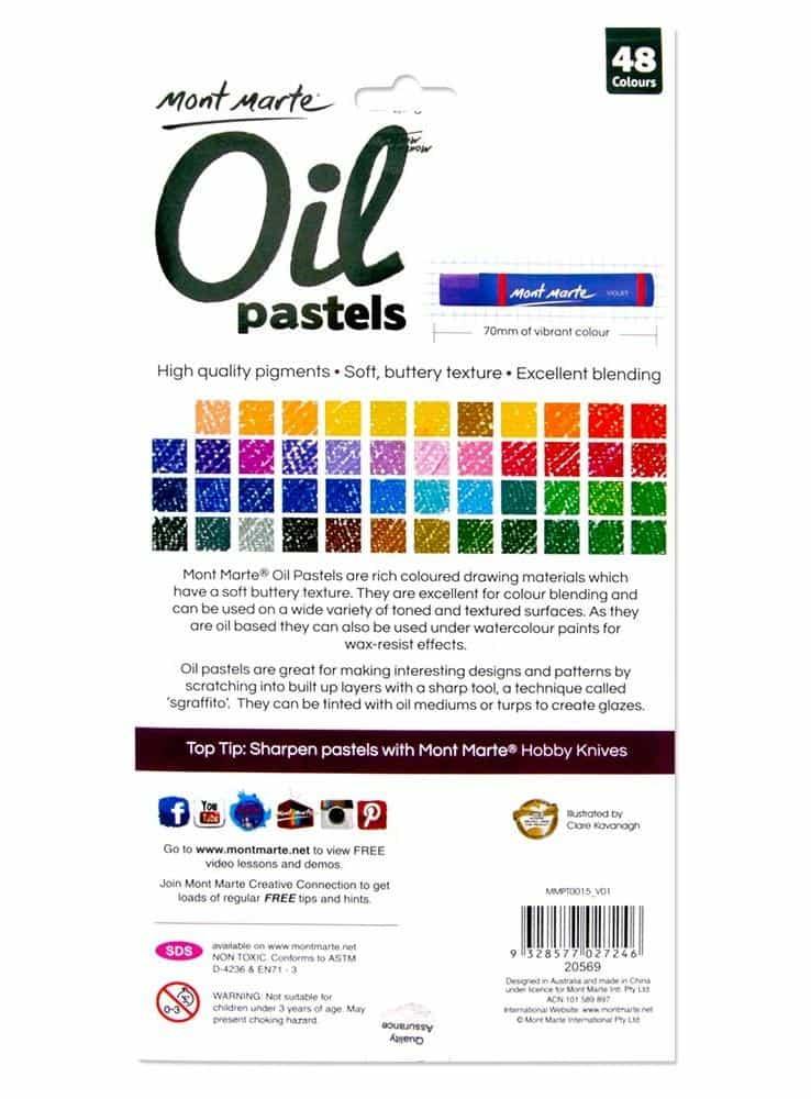 Mont Marte® Olie Pastelkrijt set met 48 kleuren