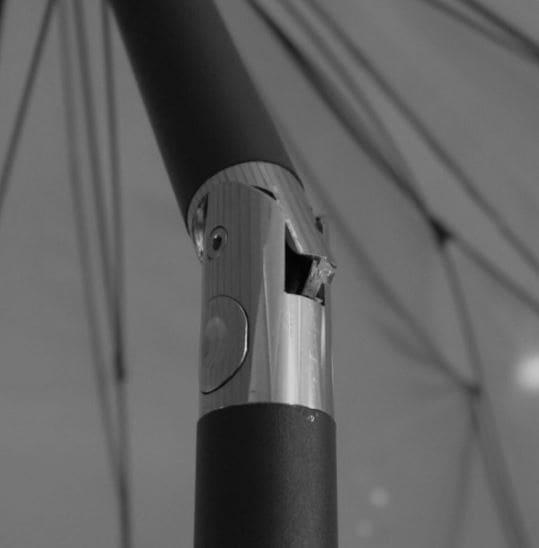 4goodz Aluminium Shanghai Parasol 325 cm met opdraaimechanisme - Grijs