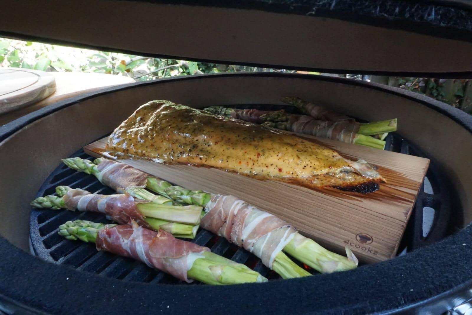 4cookz® 2 stuks XL rookplank BBQ - cederhout - 19x40cm