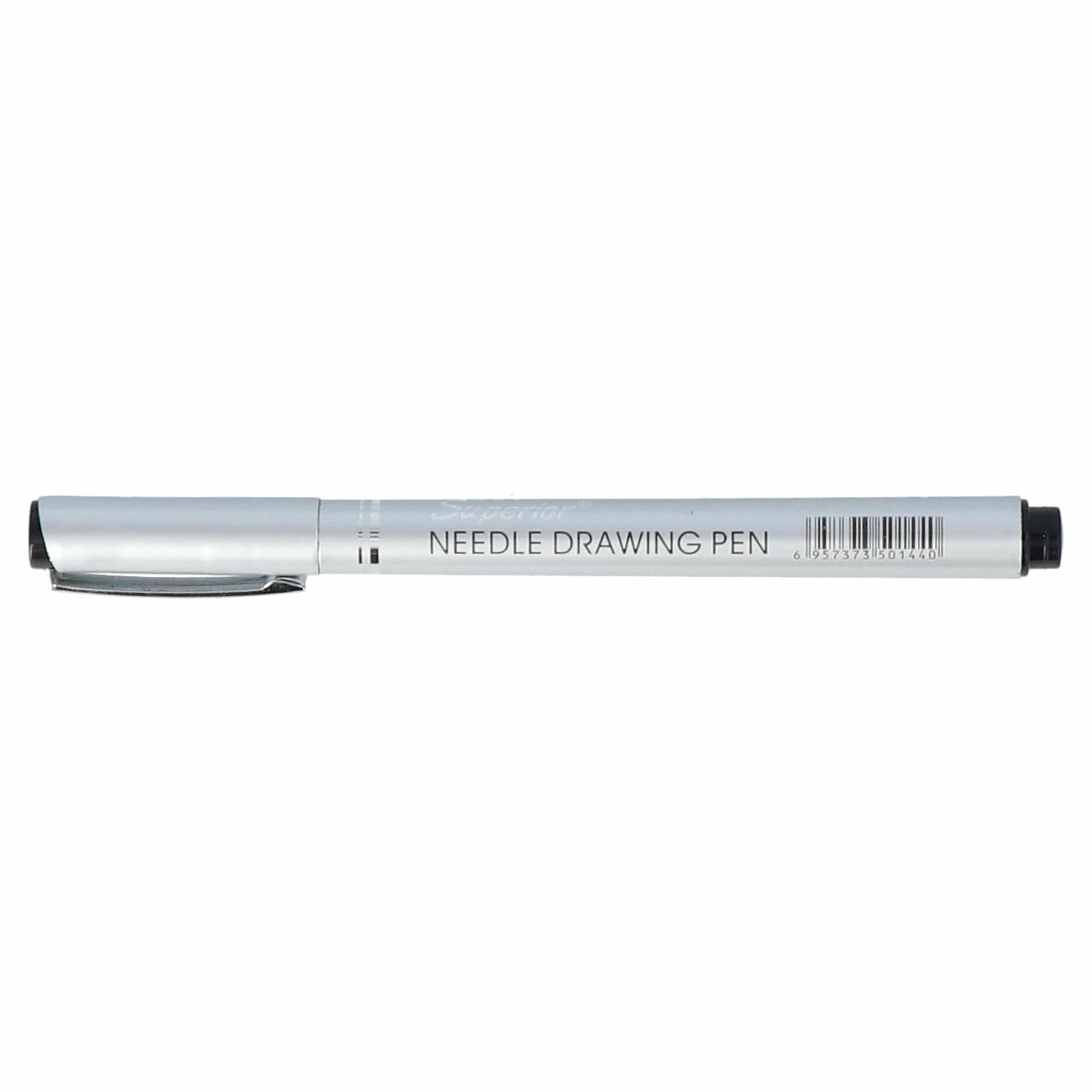4artz® set van 12 verschillende maten fineliners - 0,05 mm tot 2 mm