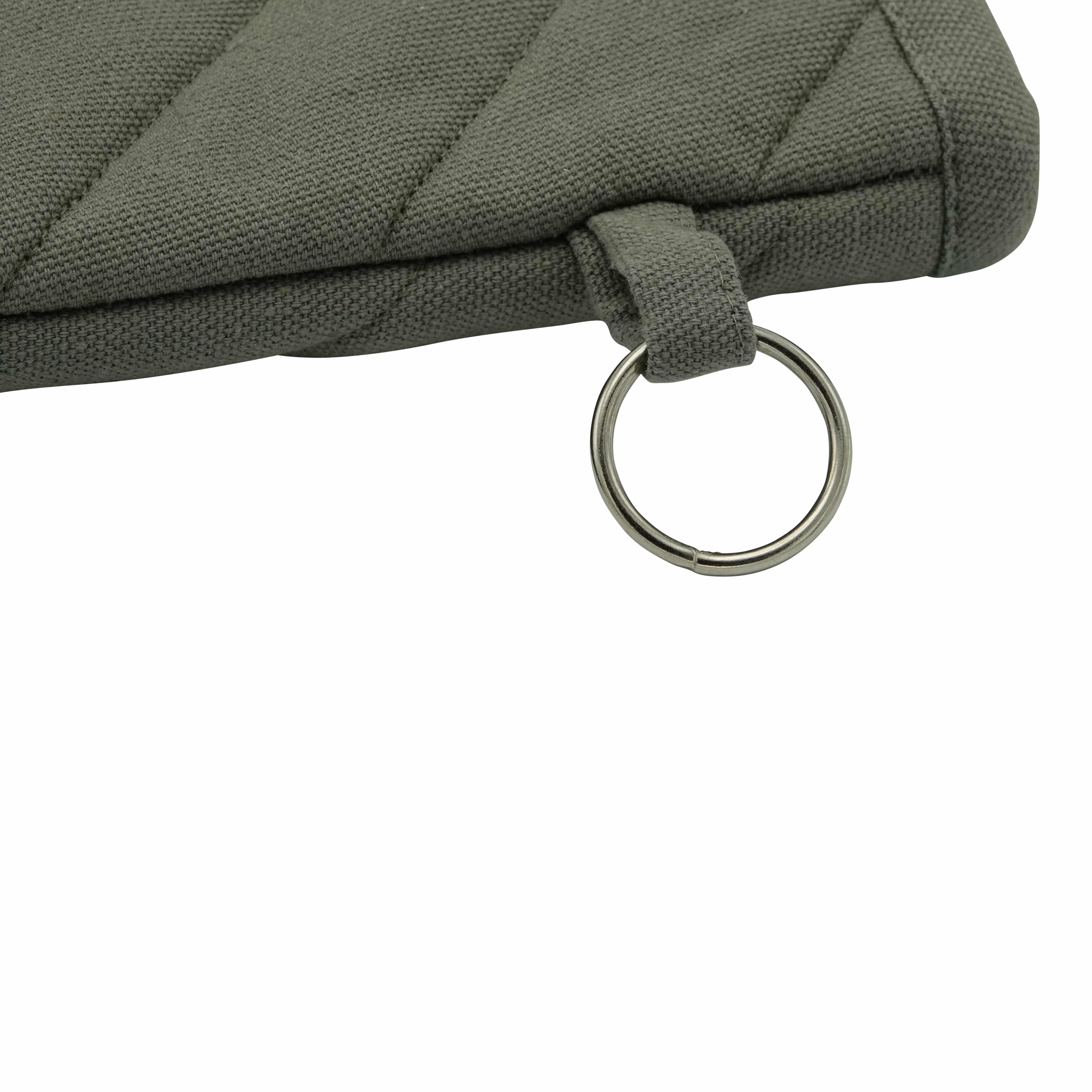 4cookz® katoenen Oven/bbq Handschoen Grijs met extra lange mouw