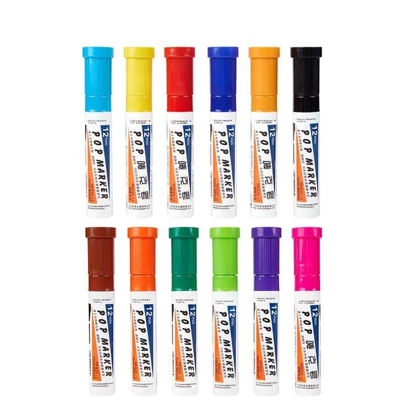 4artz® permanent markers kleuren 20 mm - brede stift op alcohol basis