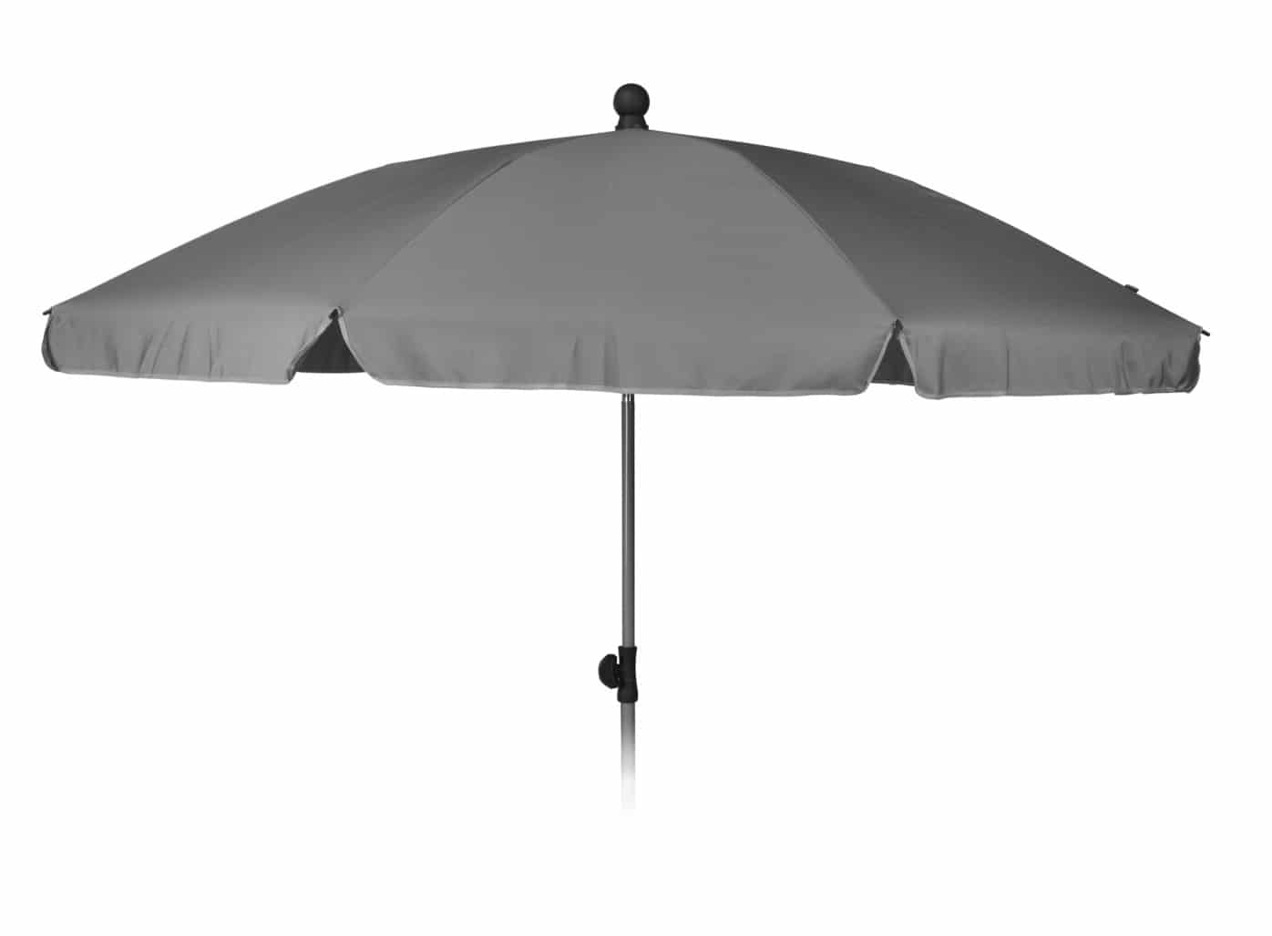 4Goodz Strand-/Tuinparasol met volant 200 cm - Licht grijs