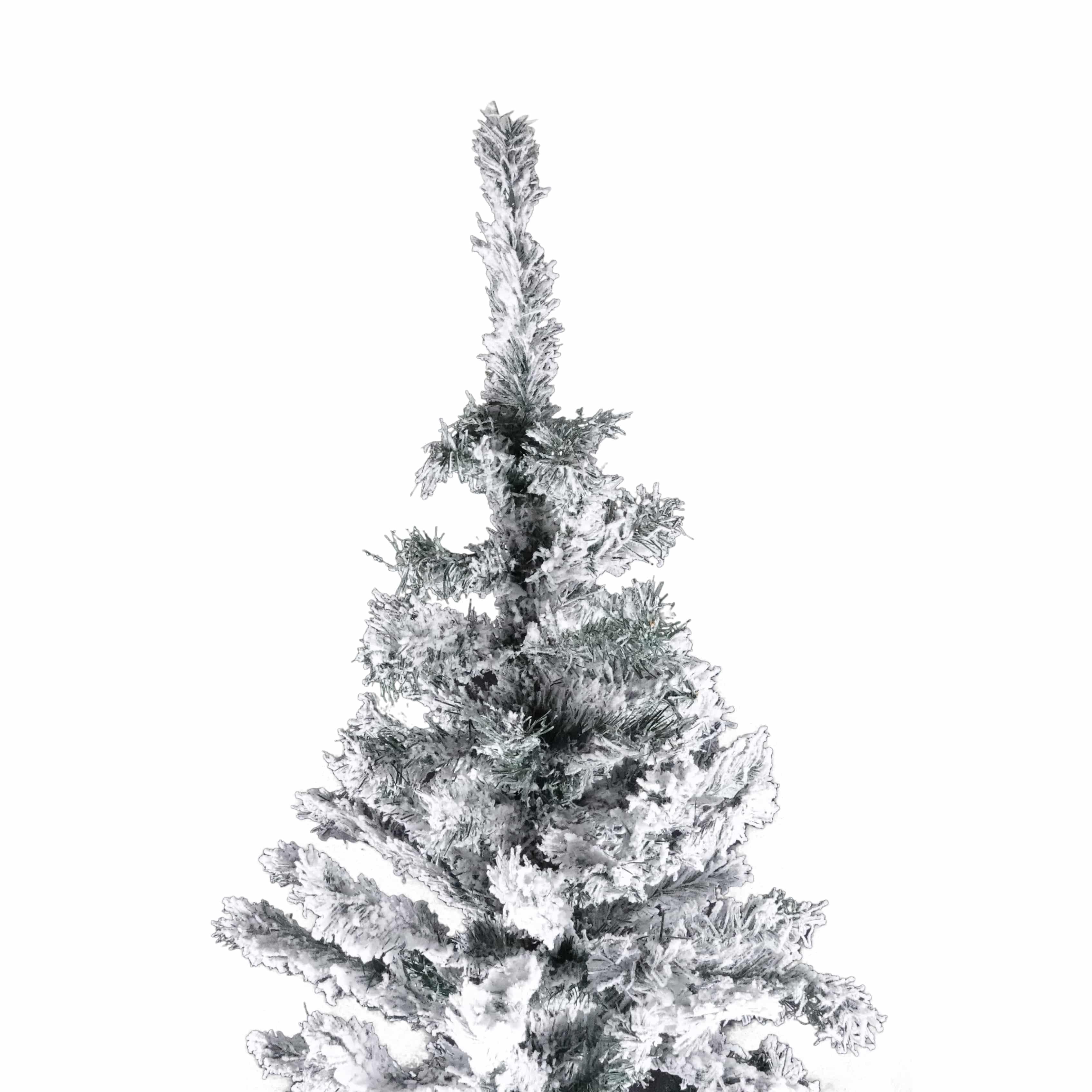 4goodz diep besneeuwde kunstkerstboom 210 cm - 127 cm breed