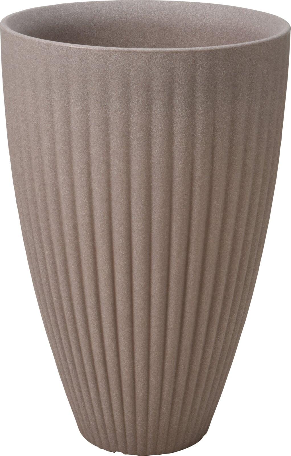 4Goodz Bloempot Rond voor buiten Rome hoog - 40x60 cm - Taupe