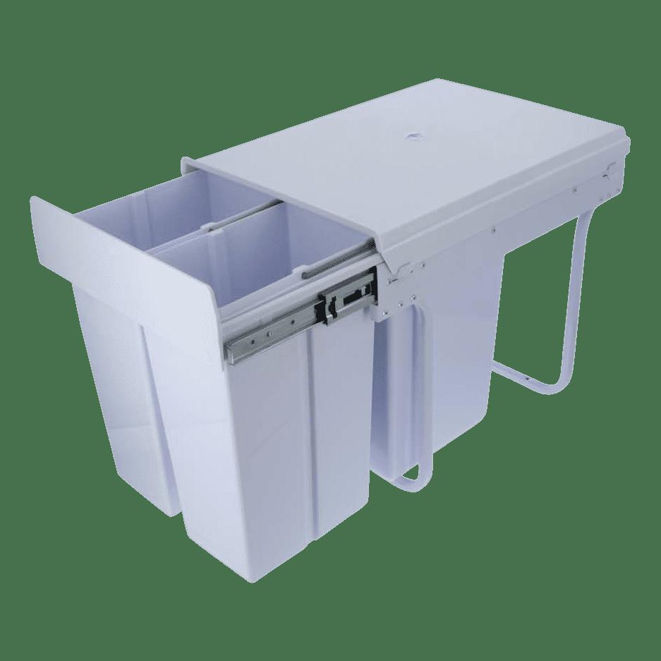 4cookz® Trio inbouw afvalscheidingsprullenbak – 2x 10/1x 20 L - 40 cm