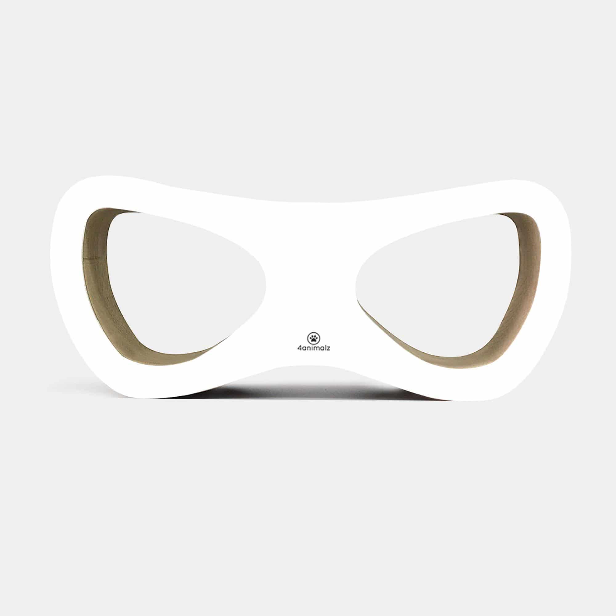 4animalz® Lounge White - kartonnen krabpaal - 69x24x29 cm