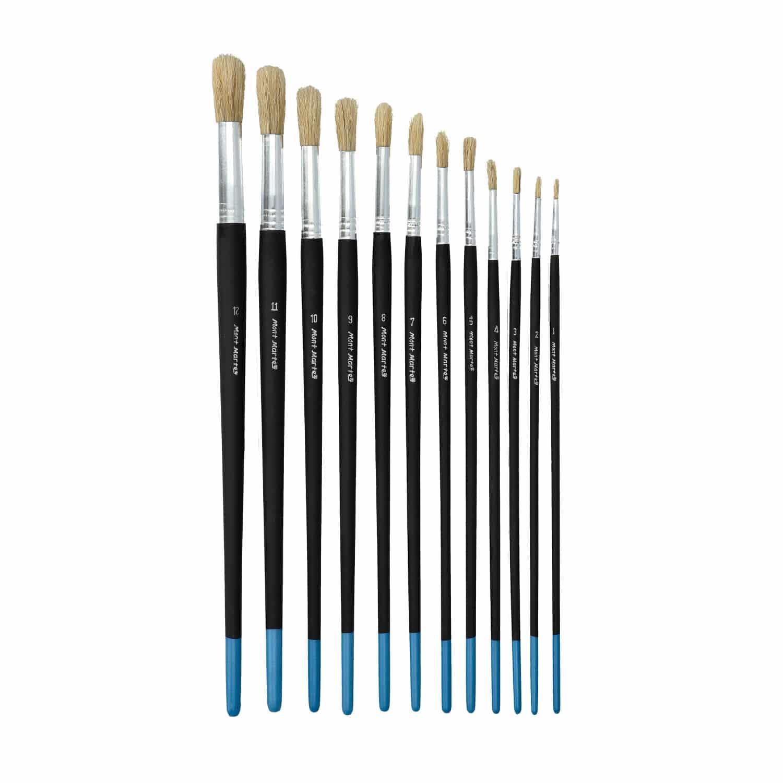 Mont Marte® Essentials Rond - 12 delige set penselen - Rond maat 1-12