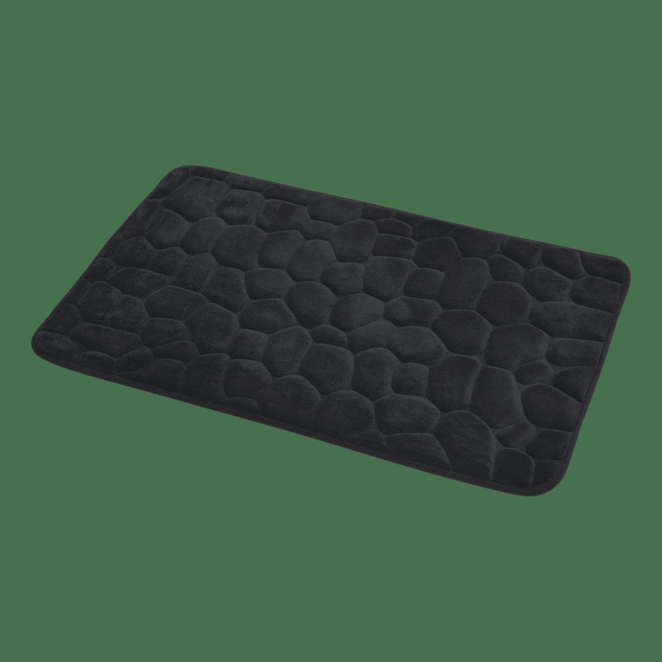 4goodz Pebbles zachte Traagschuim Badmat - douchemat 50x80 cm - Zwart