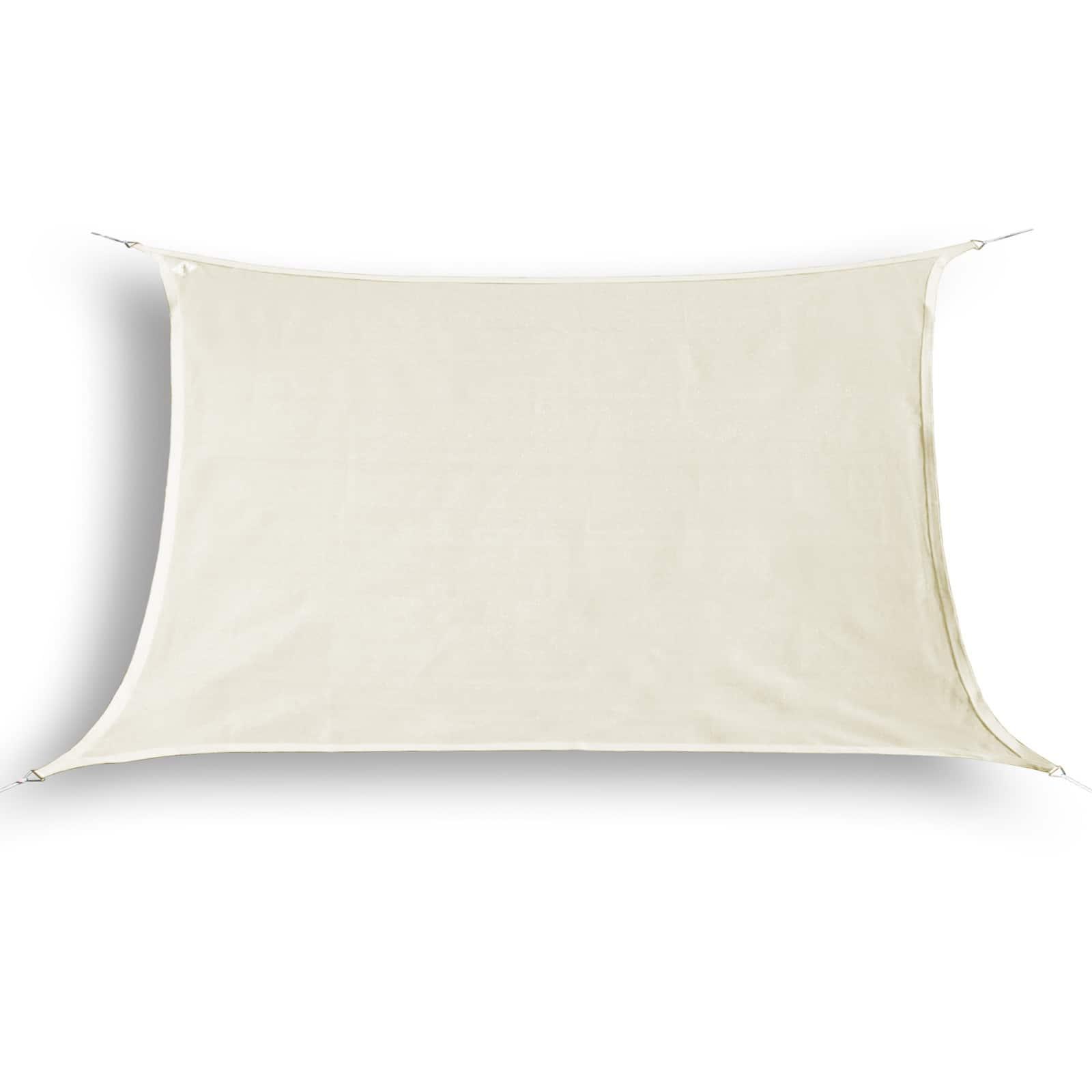 hanSe® Schaduwdoek Rechthoek Waterdoorlatend 5x7 m - zonnedoek - Creme
