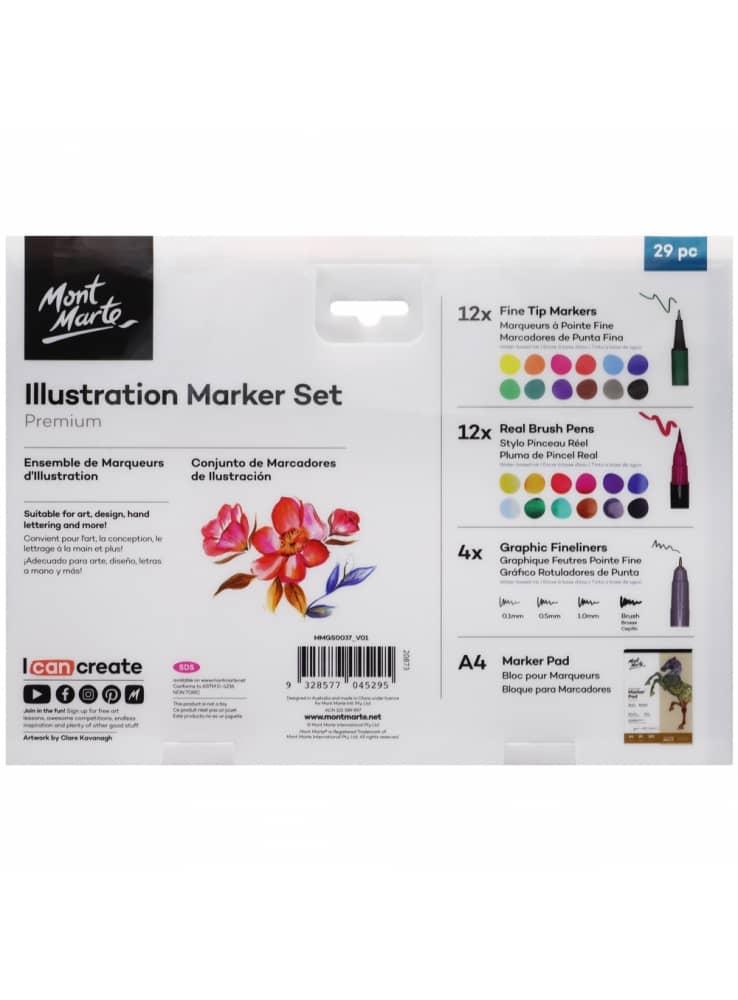 Mont Marte® 29-delige Marker set- scrapbook set