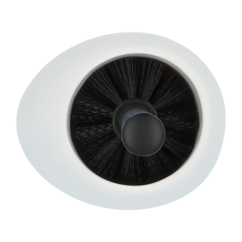 4Goodz Polystone toiletborstelset Pebbles met zwarte borstel - Wit
