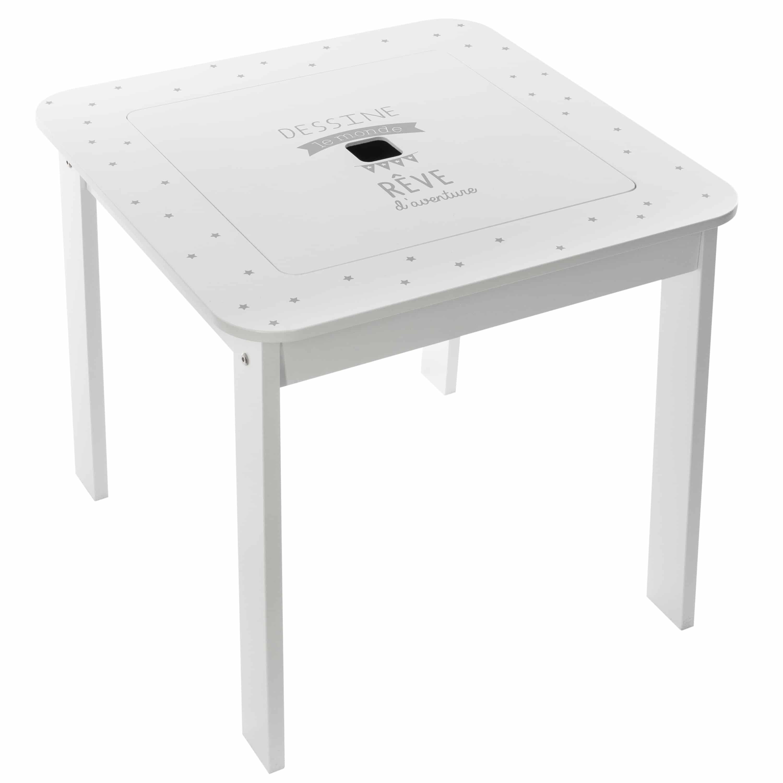 4goodz Boy set 3-delige set Kindertafel met stoelen 57x57x51cm - Wit