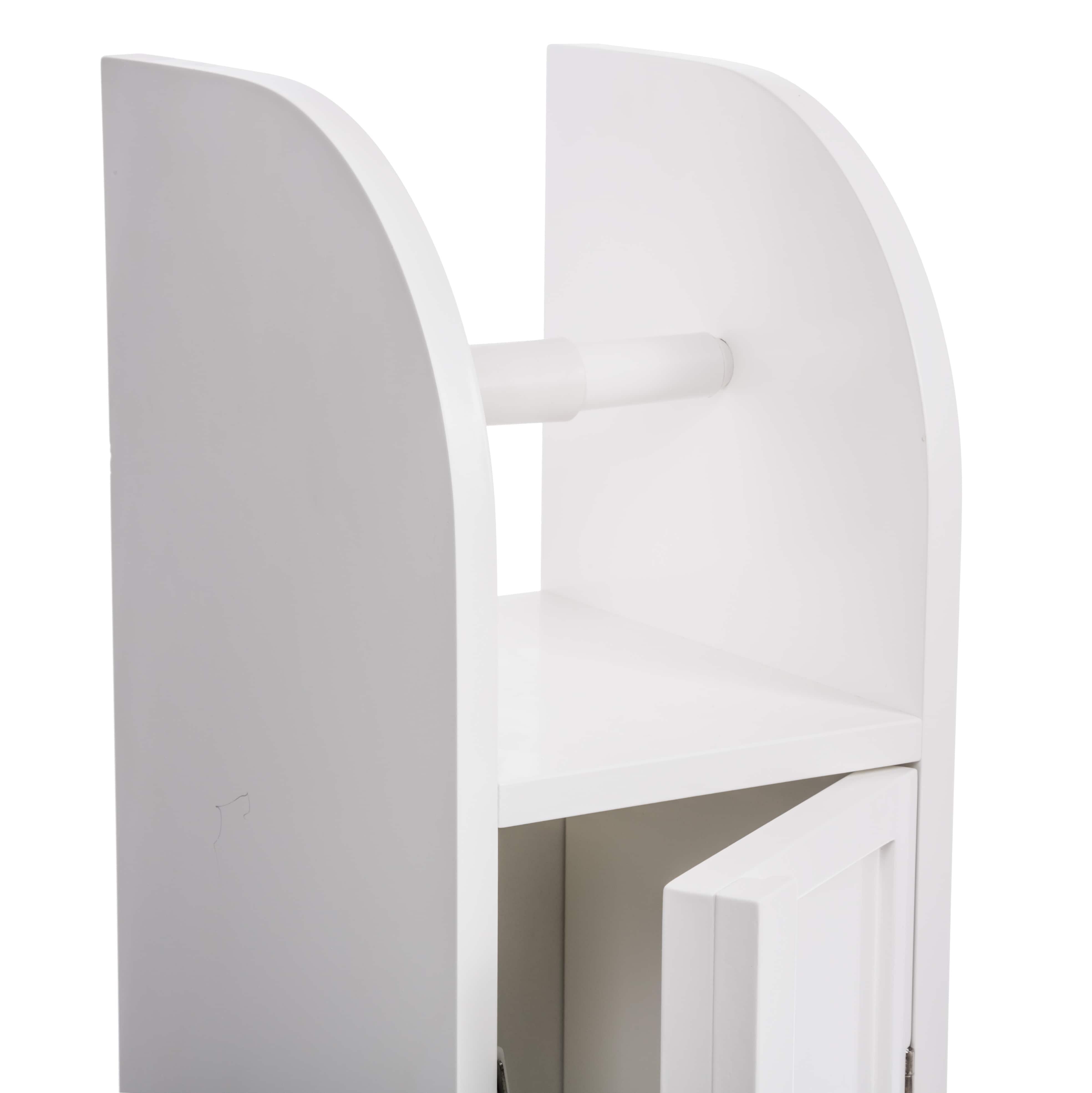 Toiletrolhouder met toiletroldispenser - 20x18x79 cm - Wit