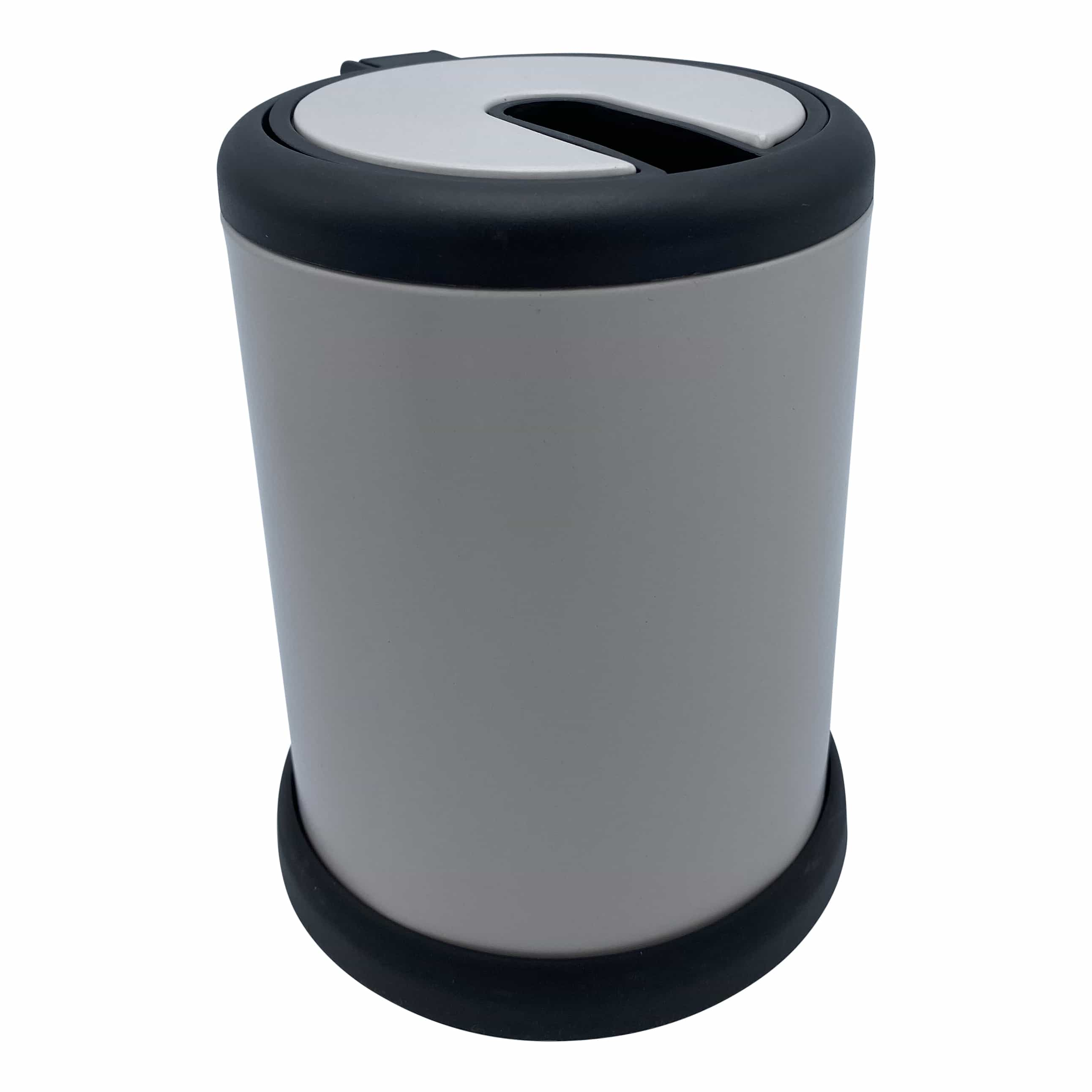 4goodz toiletborstel met klep - 11,5x39 cm - Mat Taupe