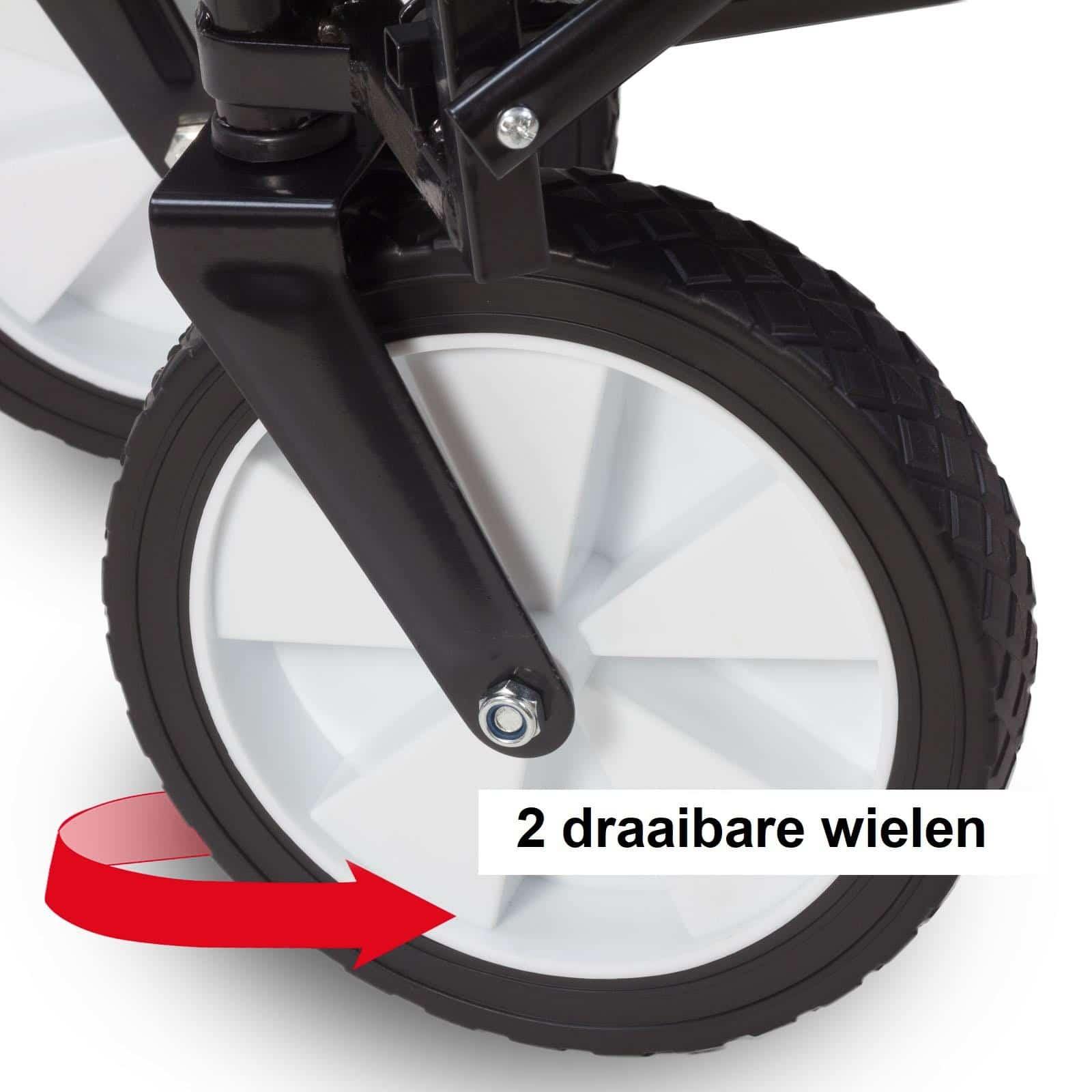 4goodz Opvouwbare Bolderkar - Bolderwagen 97x61x59cm - Grijs