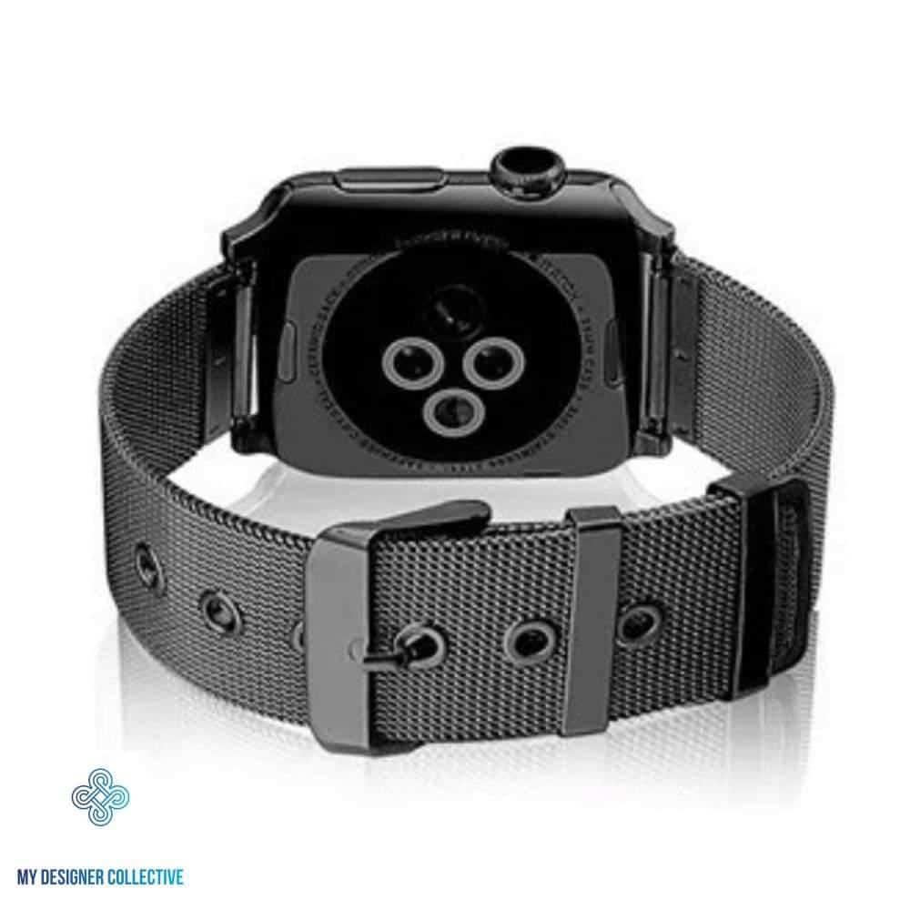 4mobilez Applewatch Buckle Black horlogeband 42/44 mm voor 1/2/3/4/5