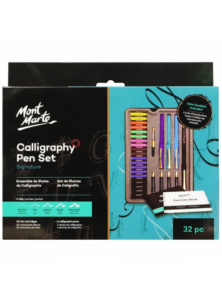 Mont Marte® Signature 33 delige kalligrafie set - kalligrafiepennen