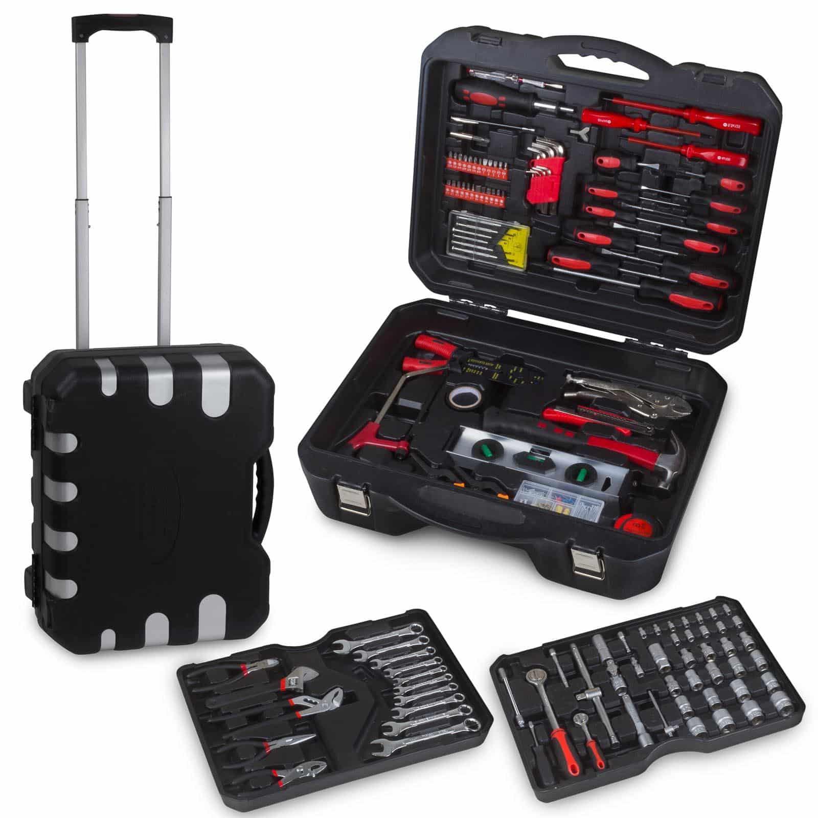 Hanse Werkzeuge gereedschapskoffer - 207 delig - met wielen