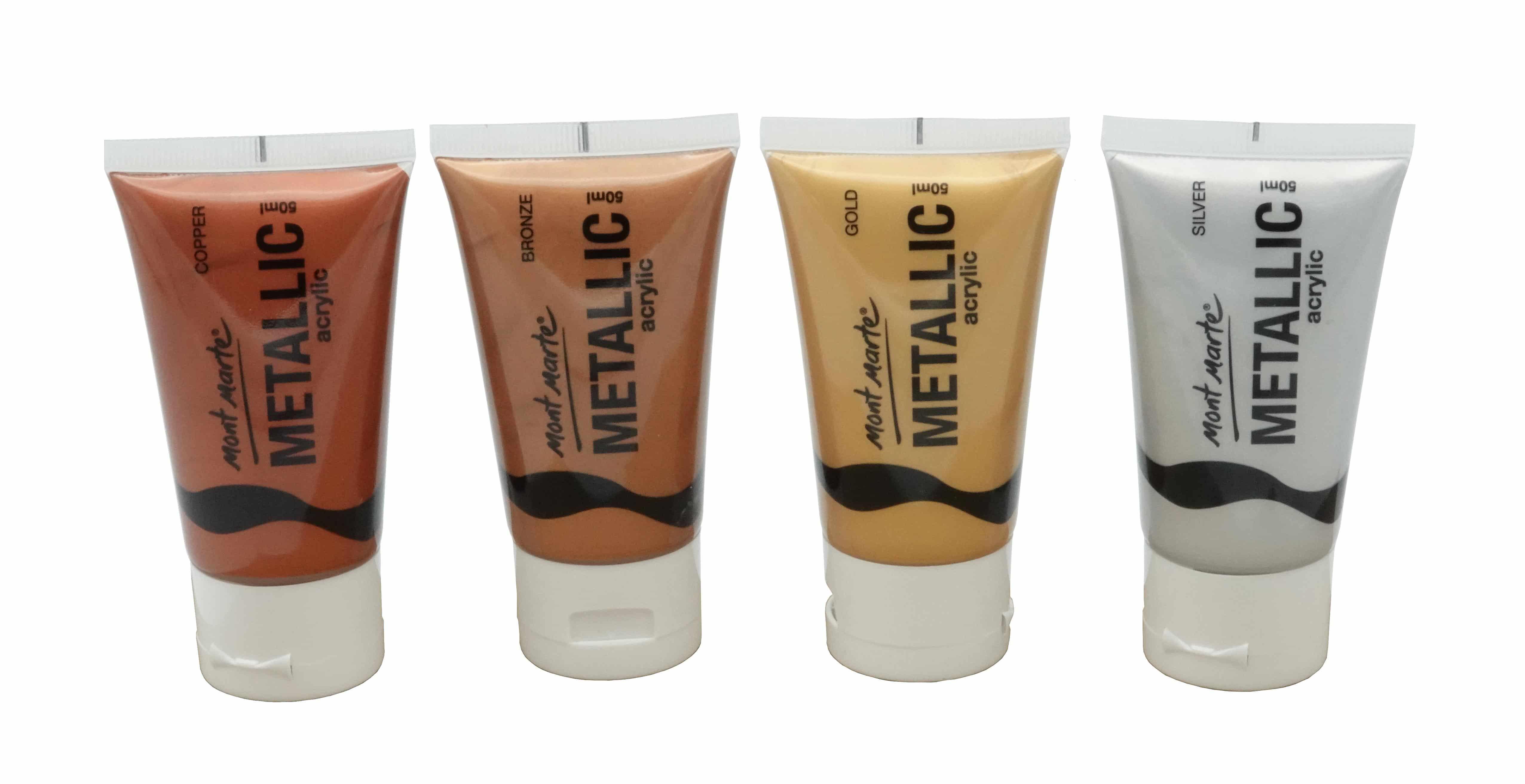 Mont Marte® Acrylverf Metallic - 4 tubes a 40ml