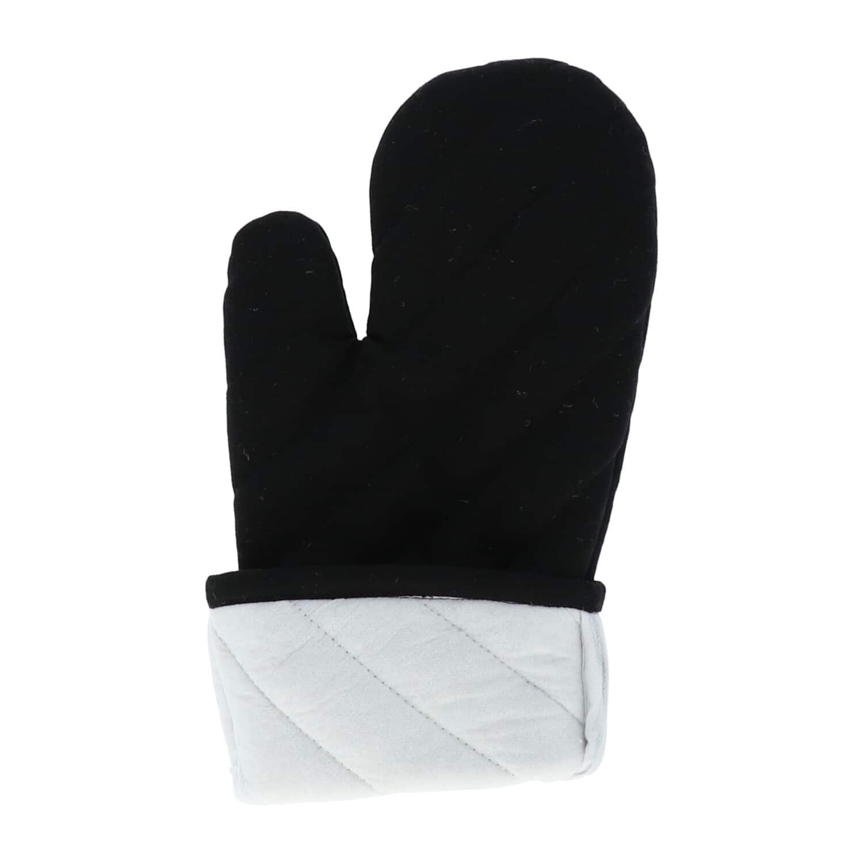 4cookz® katoenen Oven/bbq Handschoen Zwart met extra lange mouw