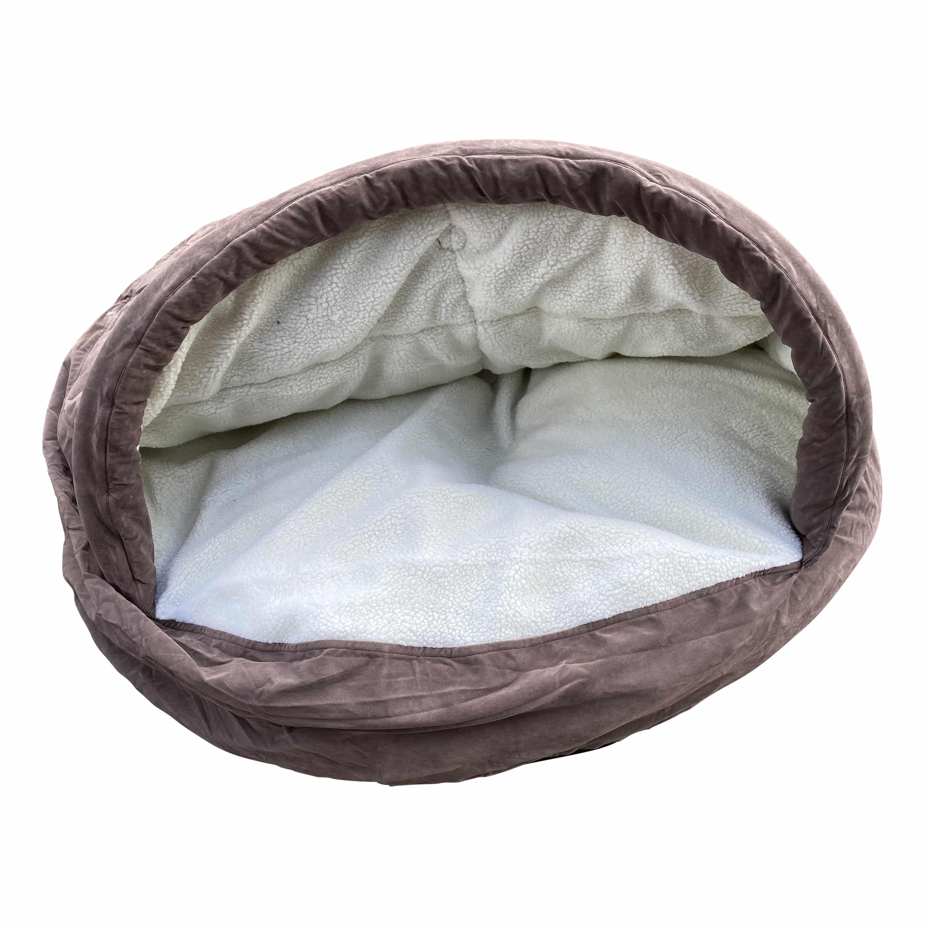 4animalz warme Snuggle mand XL - 110x110x20cm - Taupekleurig