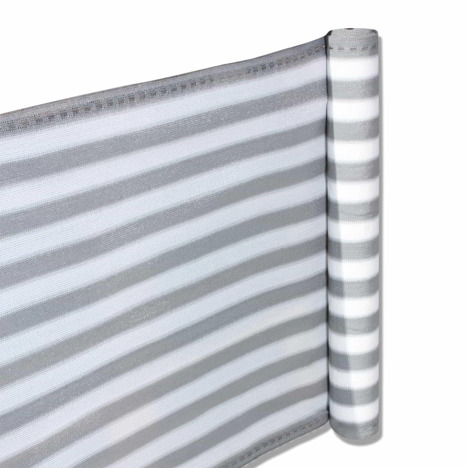 Hanse® Duurzam Balkonscherm - Kleur Grijs/Wit - Balkondoek - 500x90cm