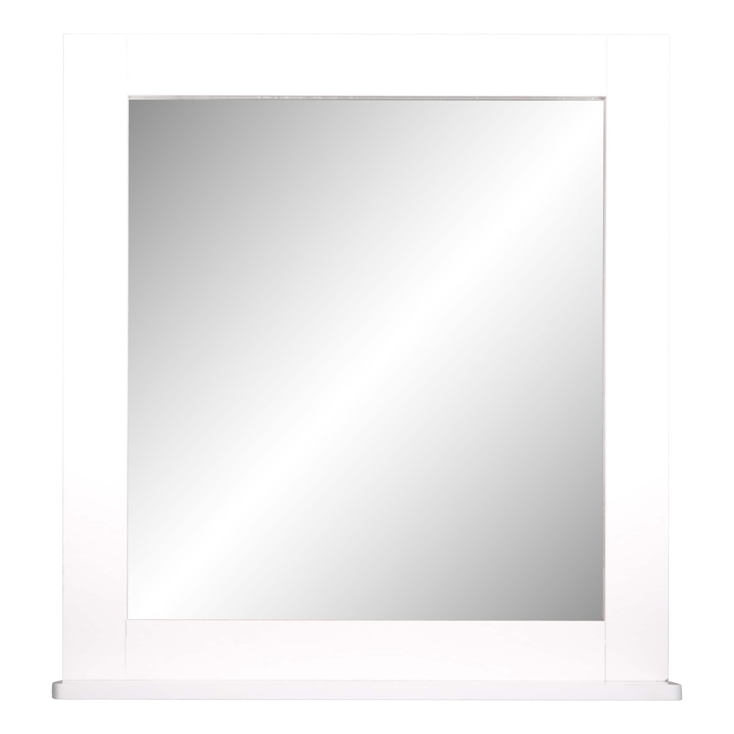 4goodz Badkamer Spiegel Vierkant met legplank Miami 48x10x53 cm - Wit