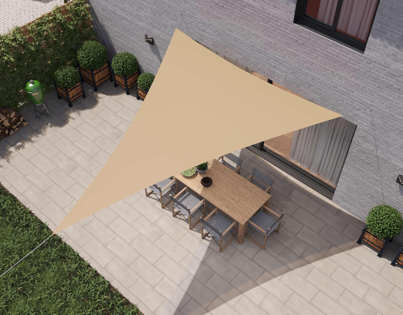 hanSe® Schaduwdoek Driehoek Gelijkbenig Waterdoorlatend 3x3x4,24 m - Zand
