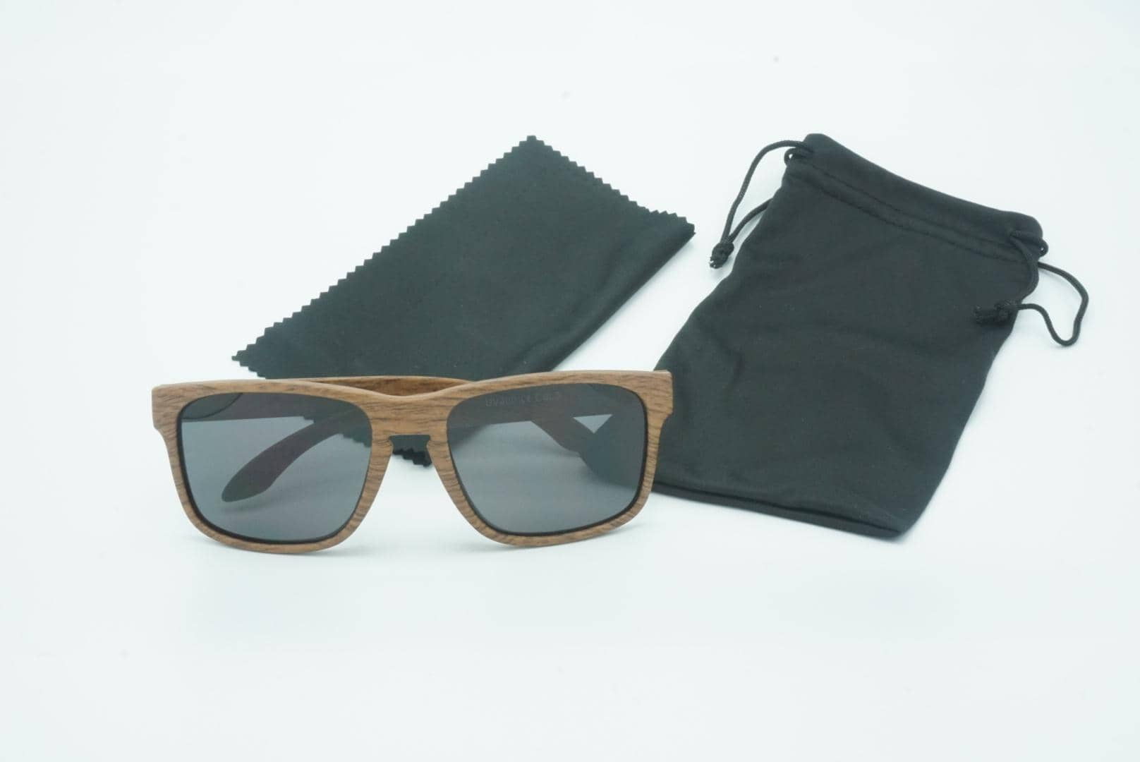 4goodz Nice grey - houtlook wayfarer zonnebril - grijs - Uv400