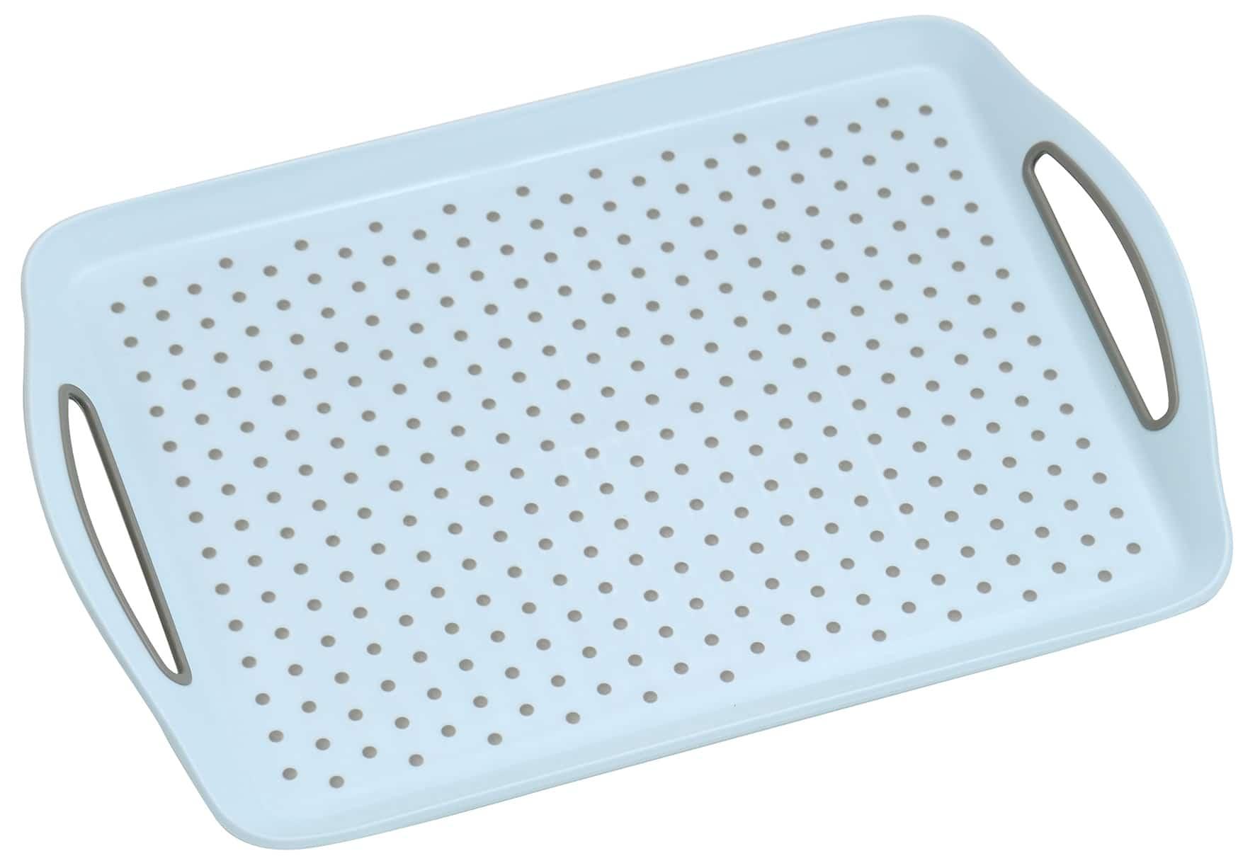 Anti-slip dienblad 45,5x32x4,5 cm - Dienblad Rechthoek - Blauw