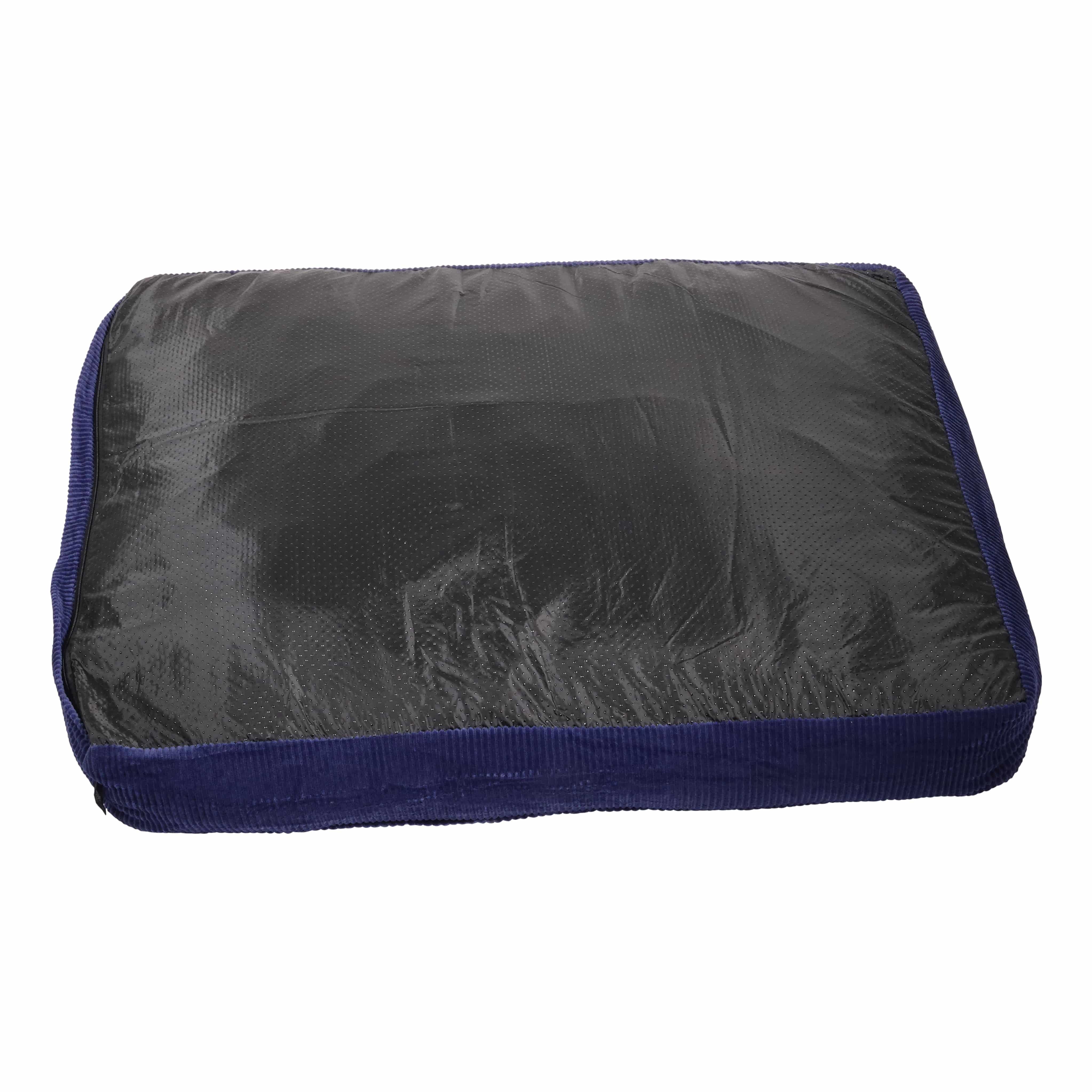 4Goodz hondenkussen rechthoek velours 70x90x15 cm - Blauw