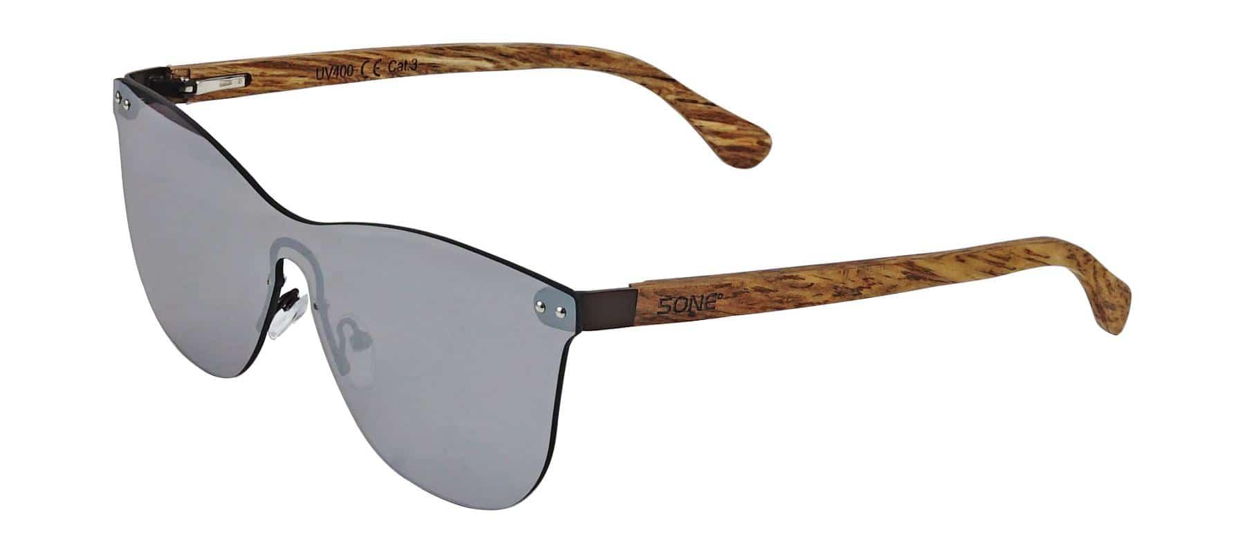 5one® Cyprus Wayfarer Flat Grey - wayfarer flat zonnebril