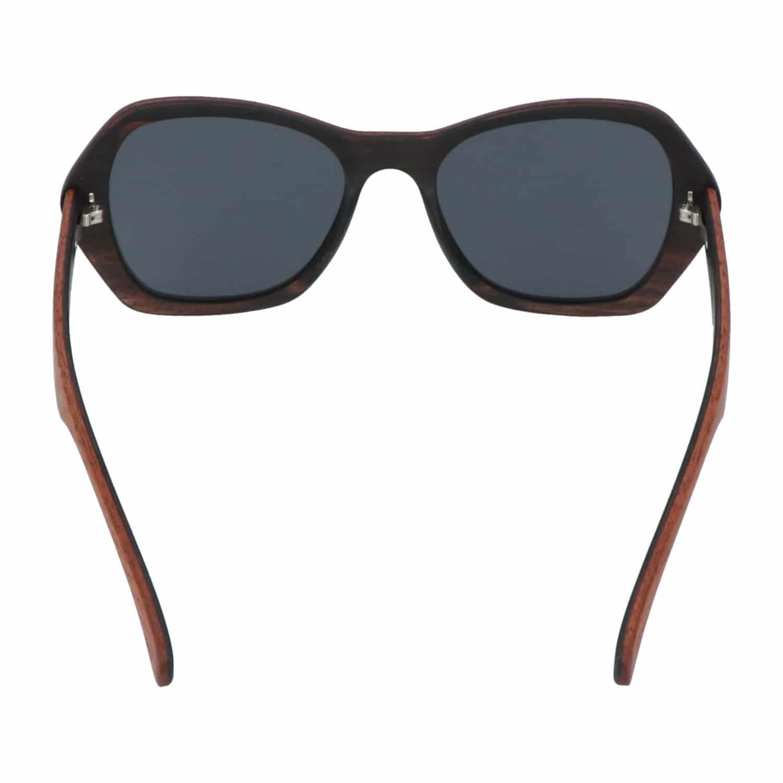 5one® Lucca XL 2-tone - Sapeli en ebony houten zonnebril voor dames