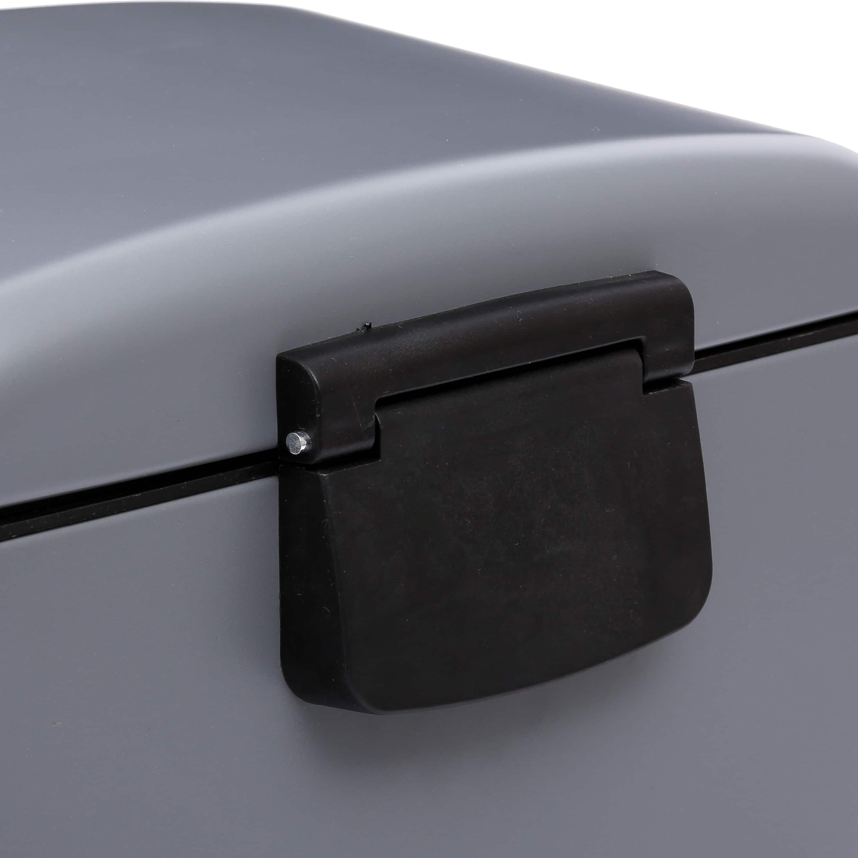 4goodz pedaalemmer 30 liter met uitneembare emmer 34x32x61cm - Grijs