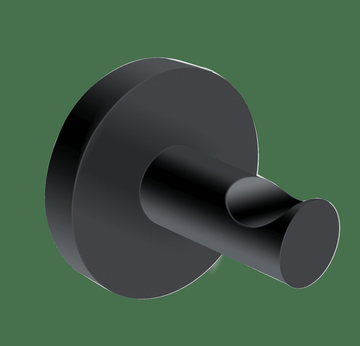 4bathroomz® Oslo set van 2 handoekhaakjes - Zwart