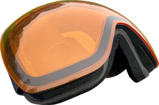 5one® Alpine 1 Clear Orange goggle / skibril - anti-condens - UV 400