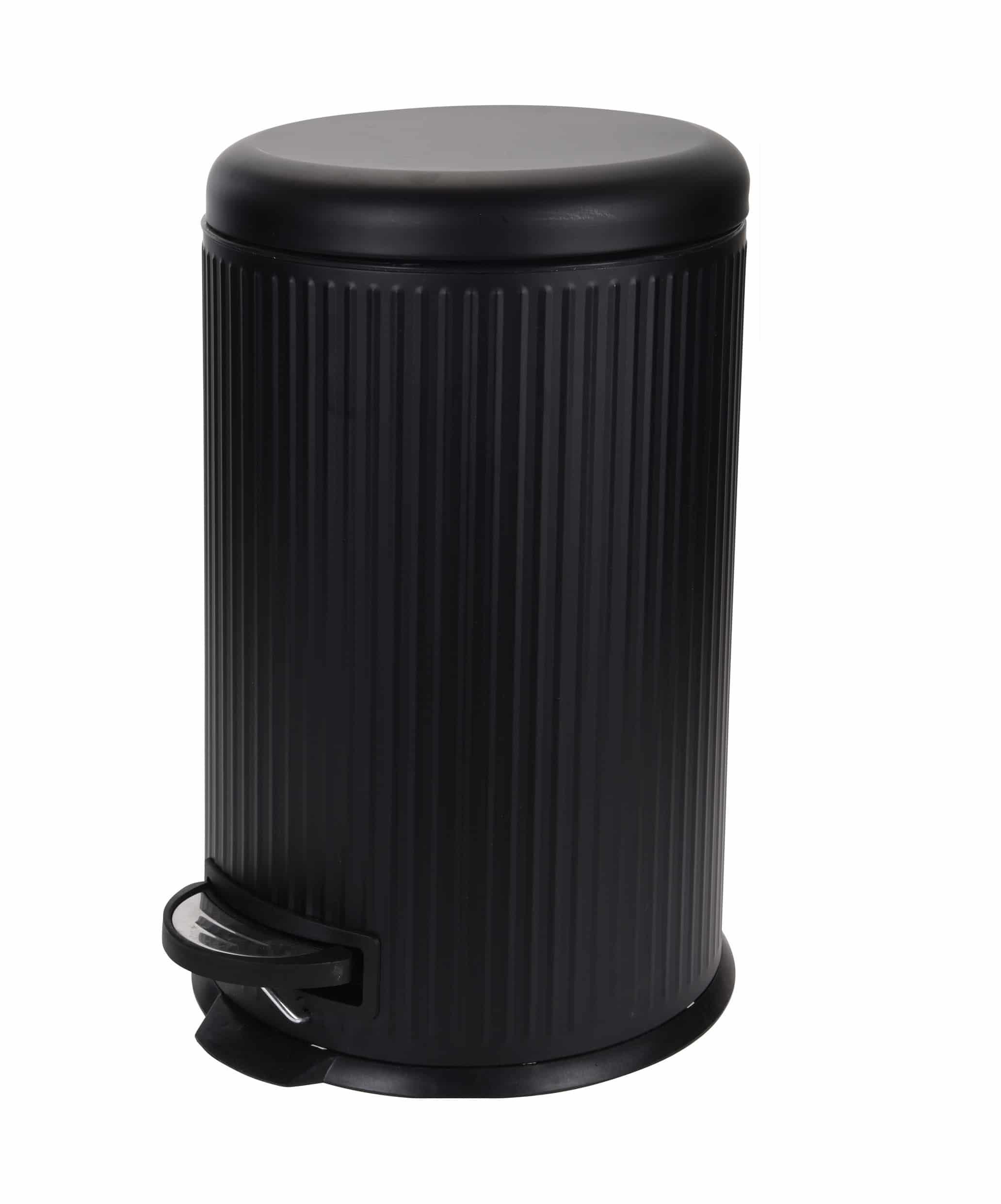 4Goodz Pedaalemmer 20 liter met uitneembare binnen emmer - Zwart