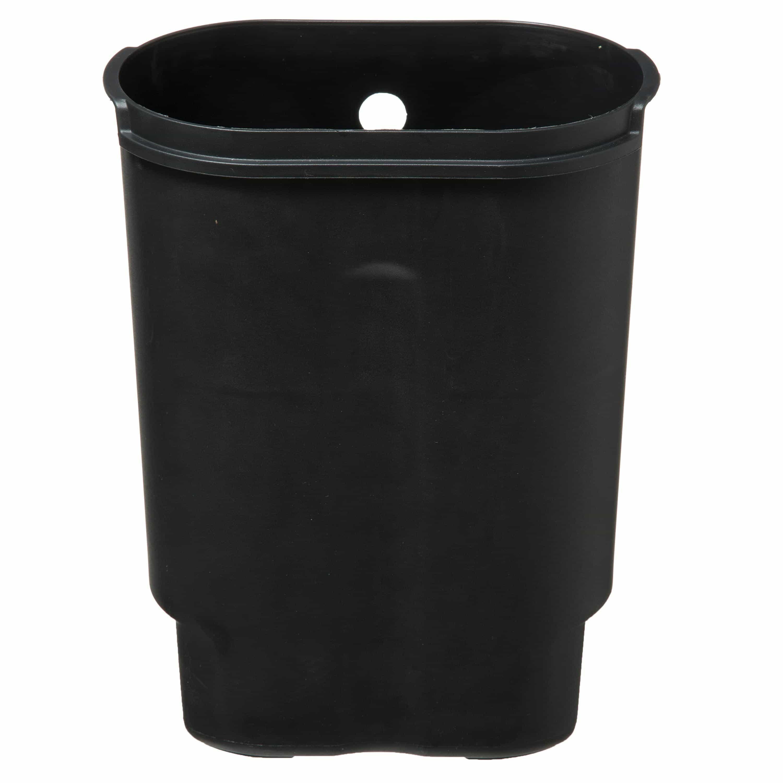 4goodz Pedaalemmer Ovaal 6 liter met uitneembare binnen emmer - Zilver