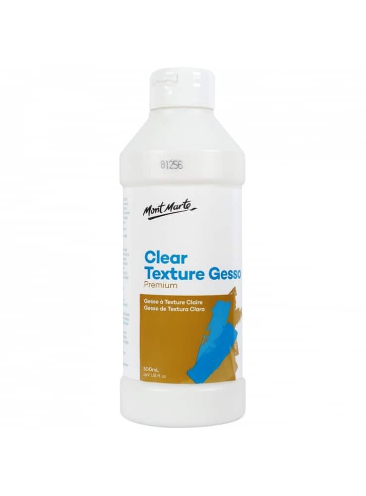 Mont Marte® Doorzichtige textuur Gesso 500 ml - waterbasis schilder Primer
