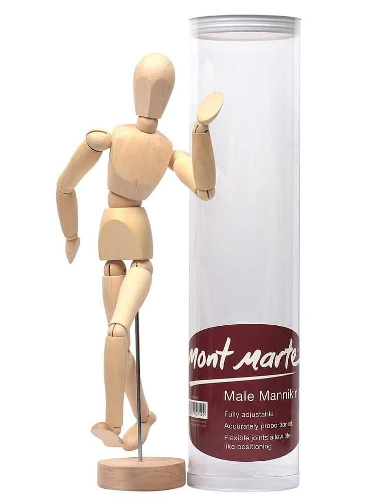 Mont Marte® anatomische tekenpop 30cm - Houten Mannequin
