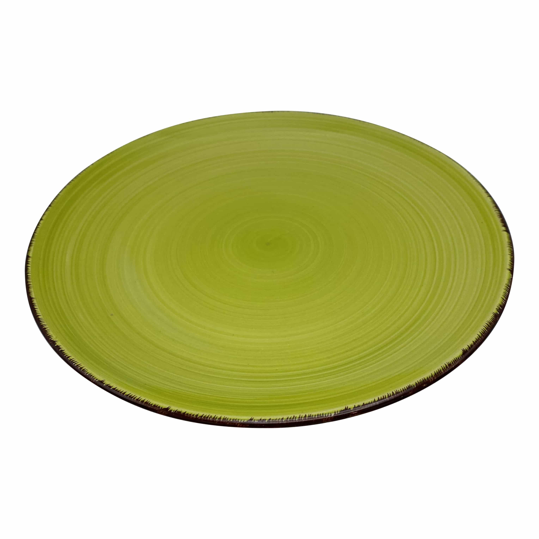 4goodz aardewerk servies 4 personen / 16 delig - Groen met beige