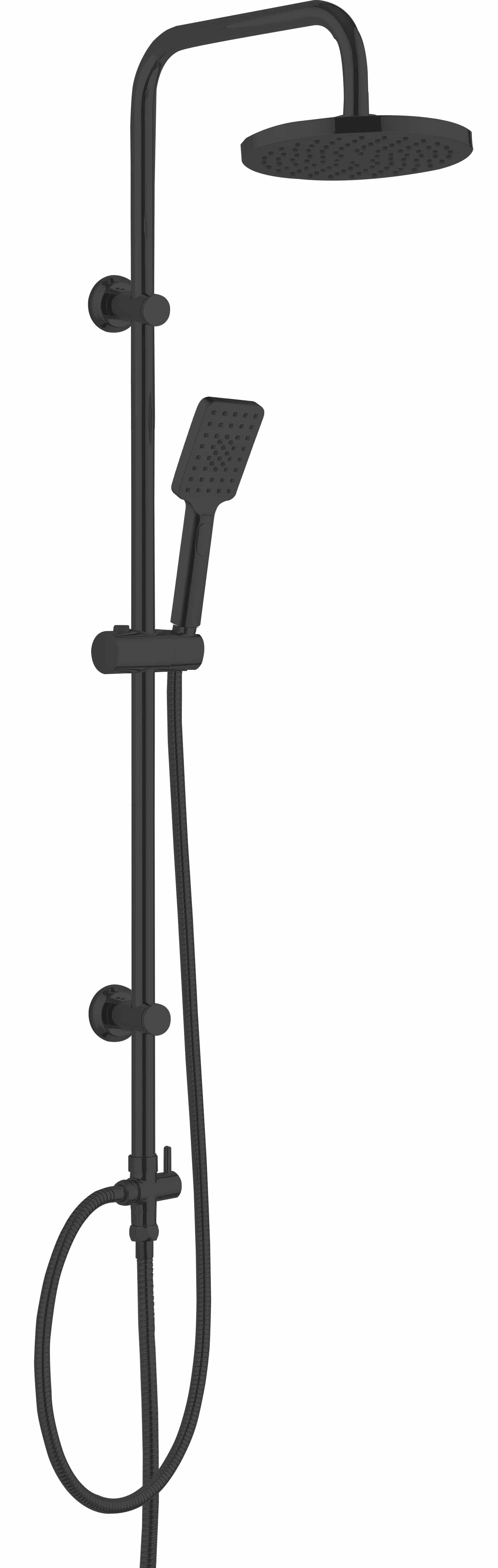 4bathroomz® luxe Douchekolom regendouche 20 cm - zwart